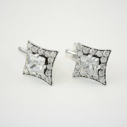 Серебряные серьги  (4526)