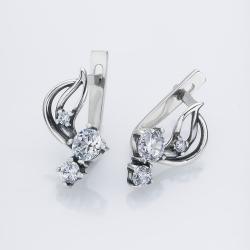 Серебряные серьги  (4532)