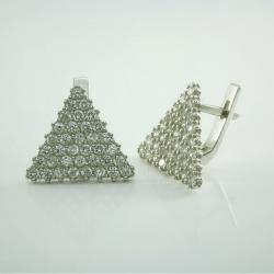 Серебряные серьги  (4578)
