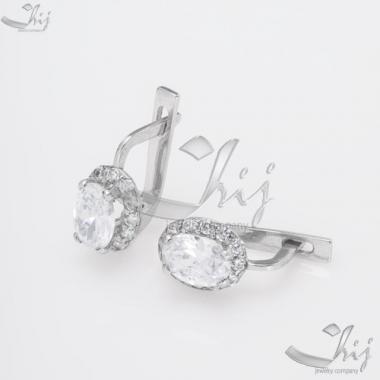 Серебряные серьги (4638)