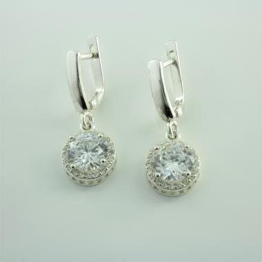 Серебряные серьги (4639)