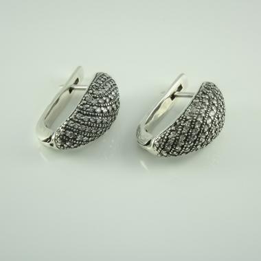 Серебряные серьги (4644)