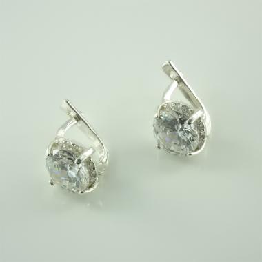 Серебряные серьги (4646)