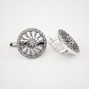 Серебряные серьги (4649)