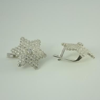 """Срібні сережки """"Зірка """"(4650)"""