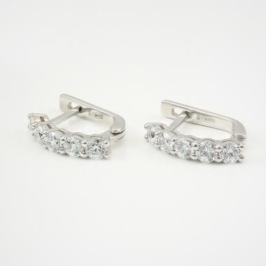 Серебряные серьги (4666)