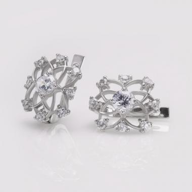 Серебряные серьги (4676)