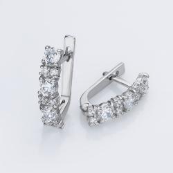 Серебряные серьги (4677)