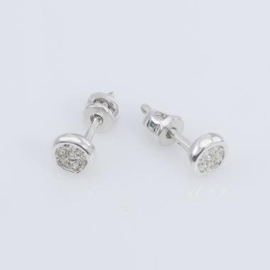 Серебряные серьги-гвоздики  (4680)