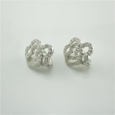 """Срібні сережки """"Серця"""" (4685)"""