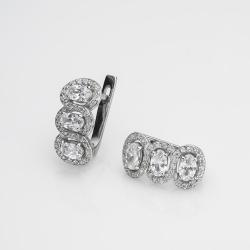 Серебряные серьги (4713)