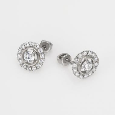 Срібні сережки-гвоздики (4721)