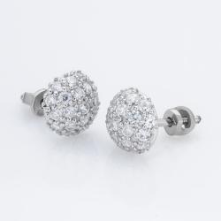 Серебряные серьги-гвоздики  (4722)