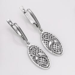 Срібні сережки Лелеки (4734)