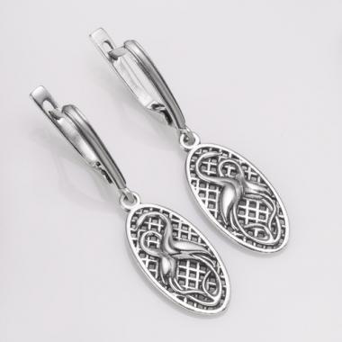 """Срібні сережки """"Лелеки"""" (4734)"""