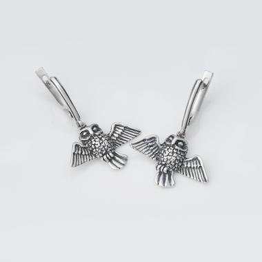 """Срібні сережки """"Сова"""" (4751)"""