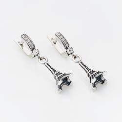 Срібні сережки Ейфелева вежа (4753)