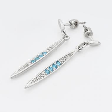Срібні сережки-гвоздики (4774)