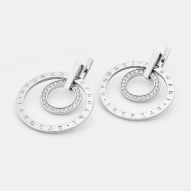 Серебряные серьги в стиле BVLGARI (4778)