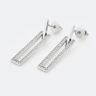 Срібні сережки-гвоздики (4780)