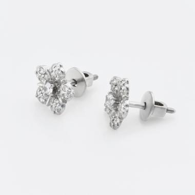 """Срібні сережки-гвоздики """"Квіточка"""" (4781)"""