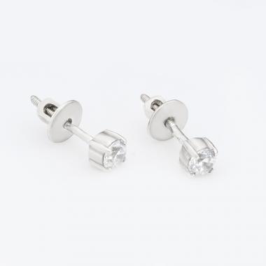Серебряные серьги-гвоздики трансформеры (4782)