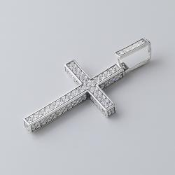 Серебряный крест в камнях (5155)