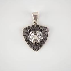 "Срібний кулон ""Тигр"" (7037)"