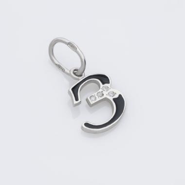"""Срібний кулон-літера """"З"""" (7057з)"""