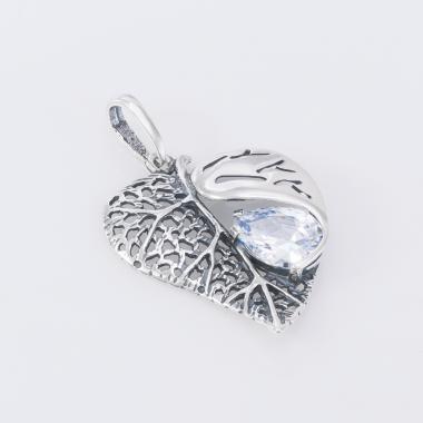 """Срібний кулон """"Листочок"""" (7059)"""