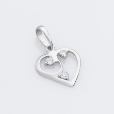 Серебряный кулон Сердце (7067)