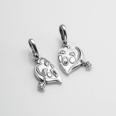 """Срібний кулон """"Серця"""" (7068)"""