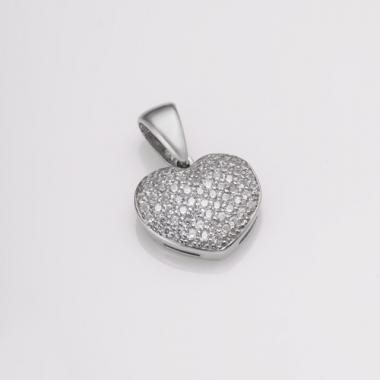 Серебряный кулон Сердце (7075)