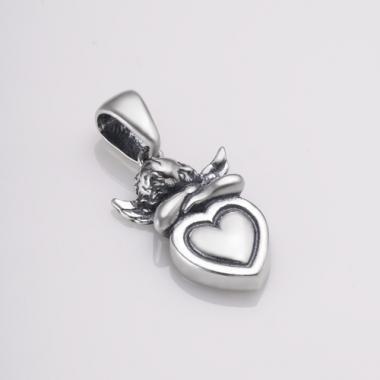 """Срібний кулон """"Ангел з серцем"""" (7083)"""