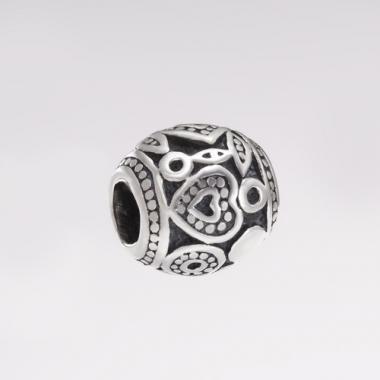 Шарм (бус) PANDORA Бочонок-серце 7086