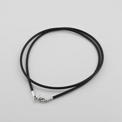 Шнурок каучуковый с серебром (8003)
