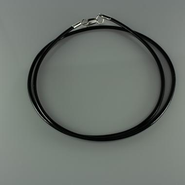 Шнурок силиконовый с серебром (8004)