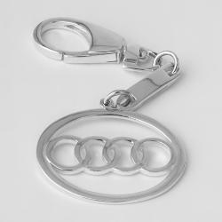 Срібний брелок Audi (Ауді) (9004)