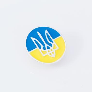 """Срібний значок """"Прапор України"""" (9511)"""